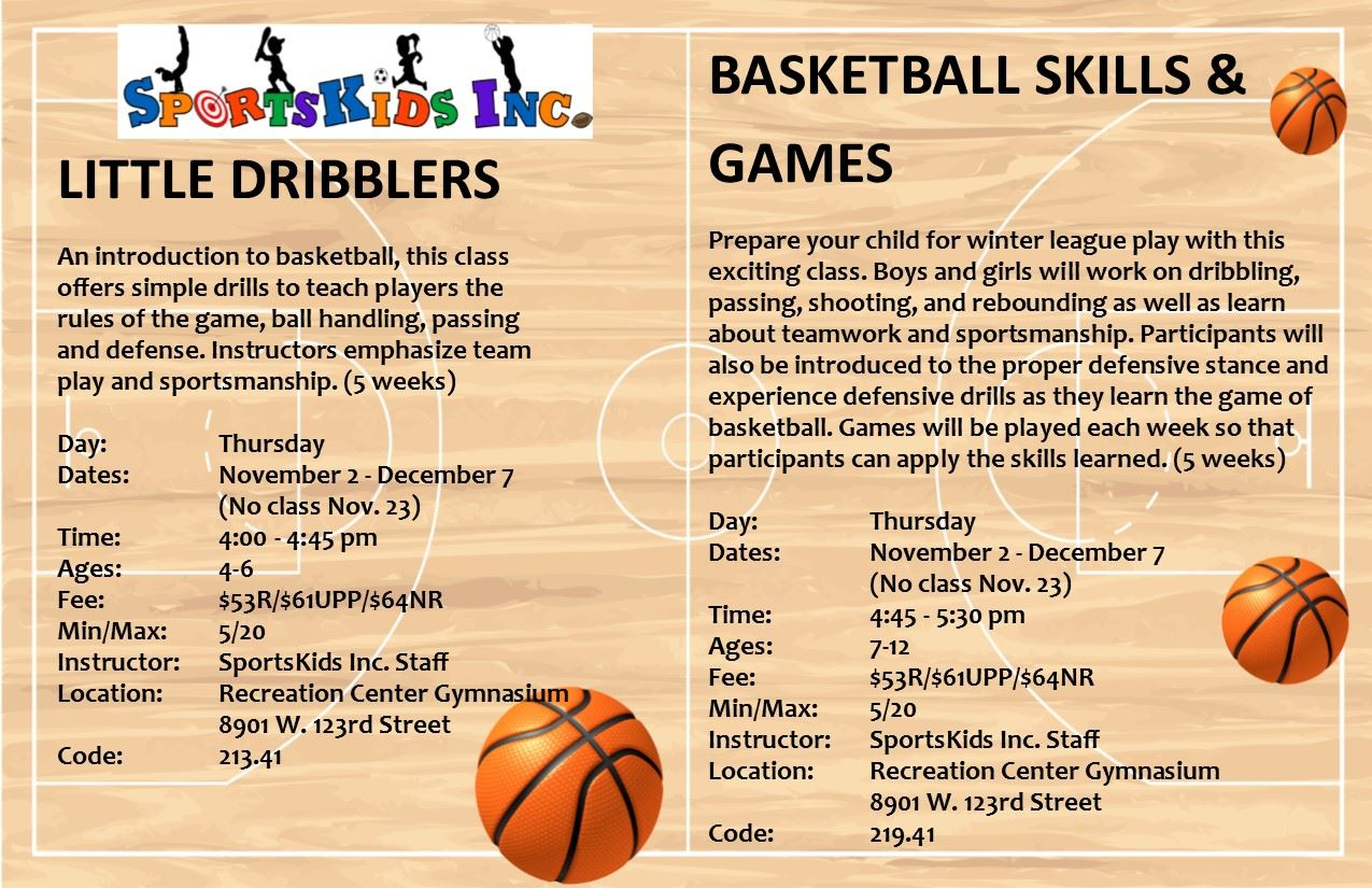 Little Dribblers and Basketball Skills for website