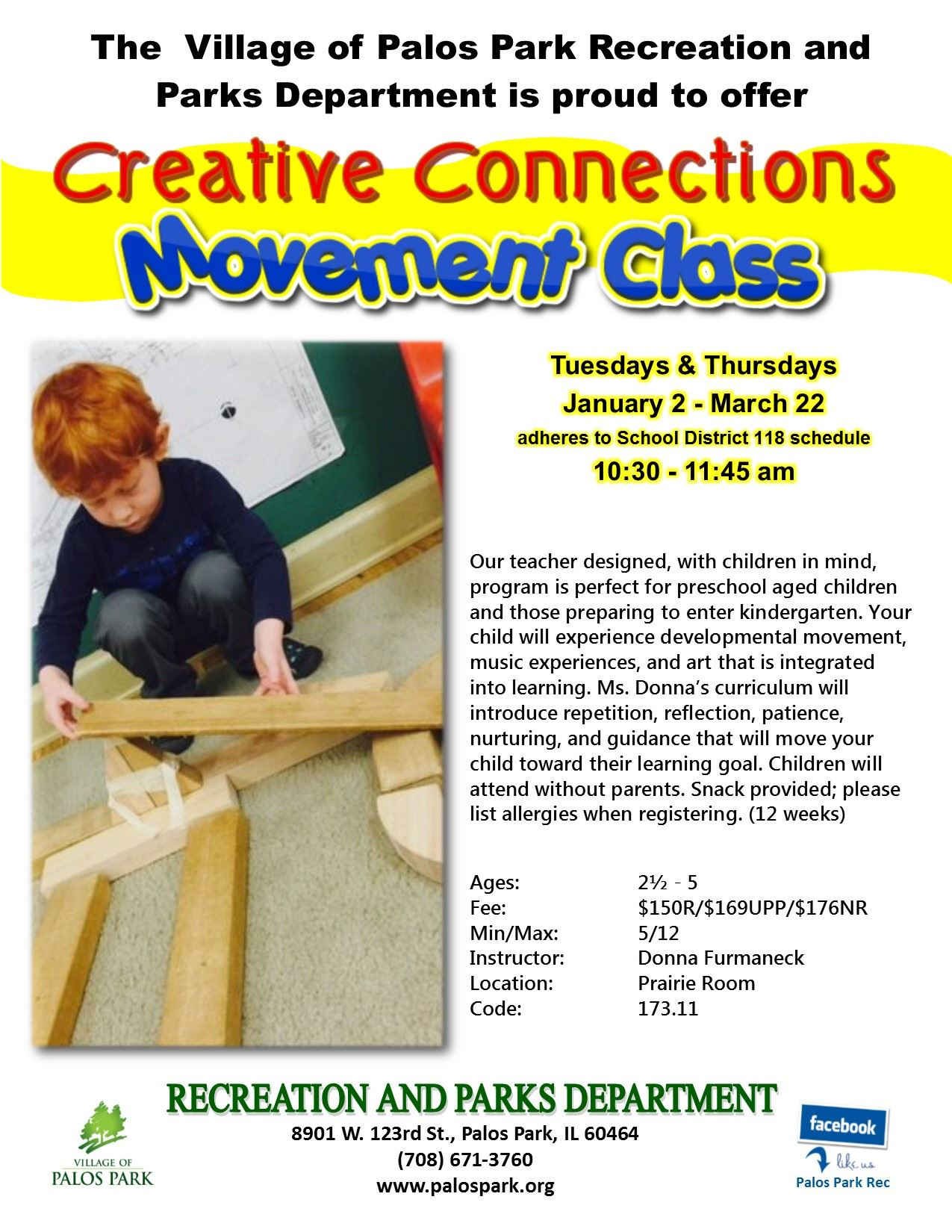 Creative Connections Movement Class