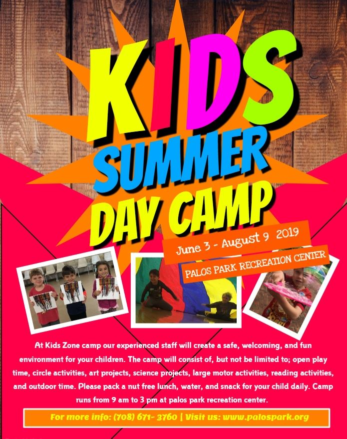 Kids zone summer camp flyer Opens in new window