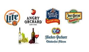 Beer and drink logos of available beverages