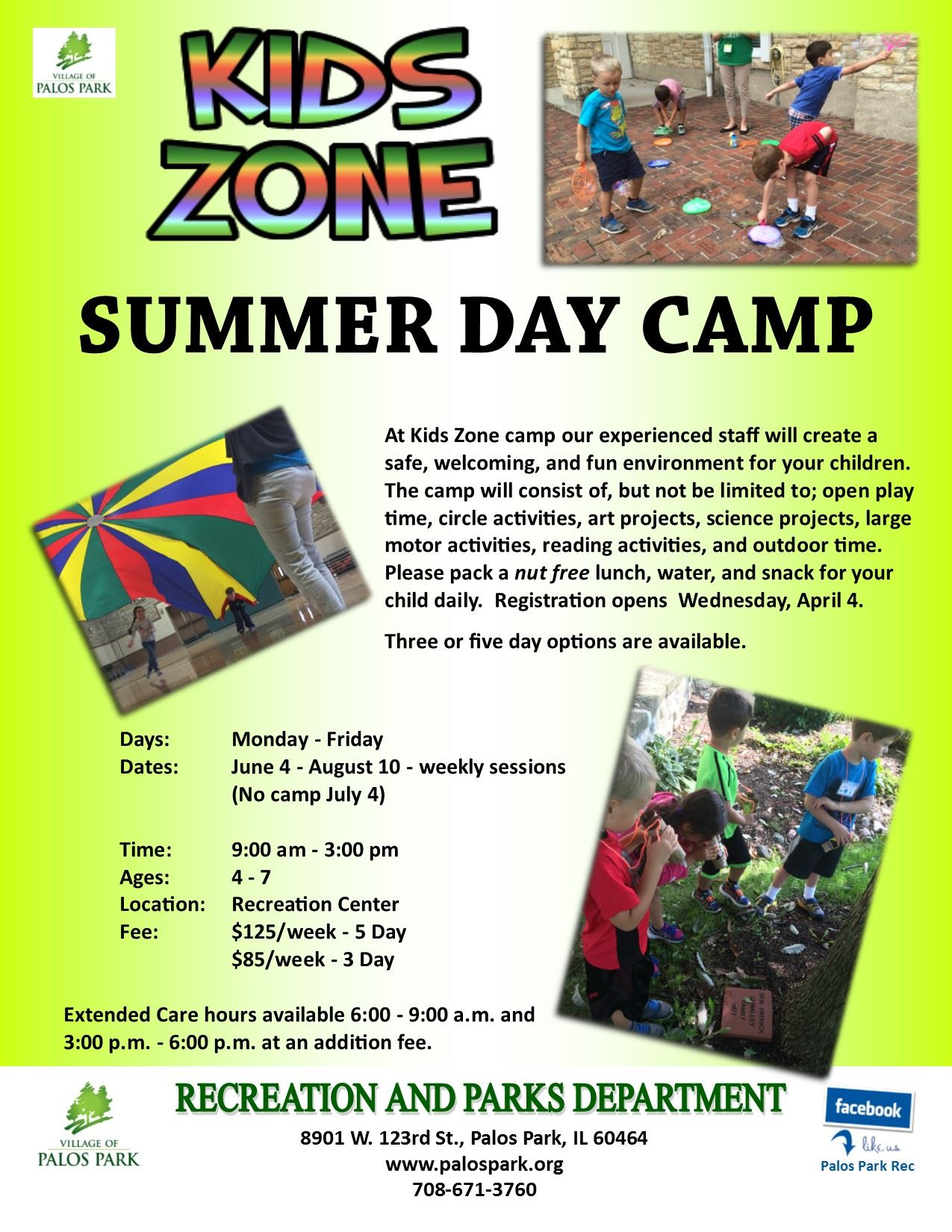 Kids Zone summer camp 2018
