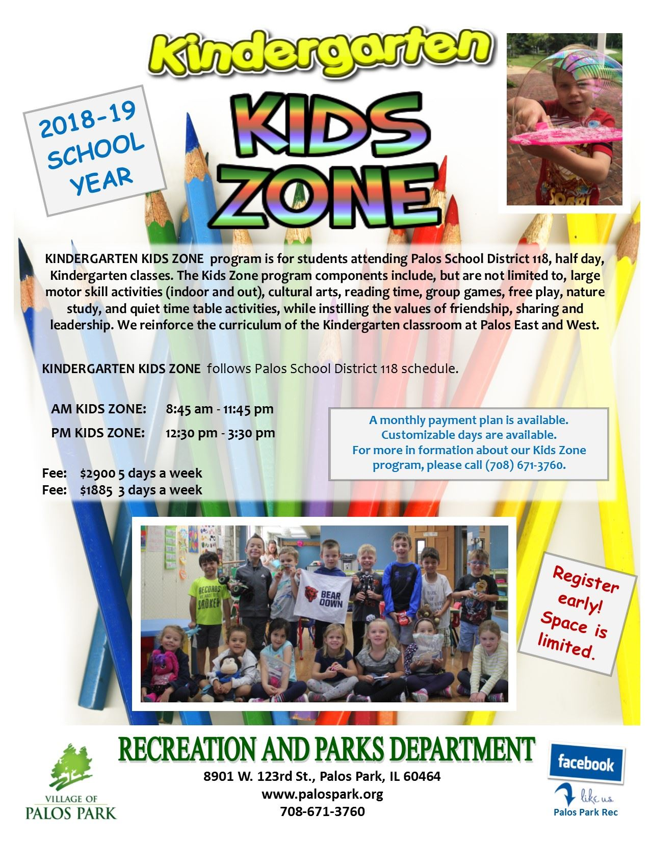 Kids Zone 2 flyer 2018-19