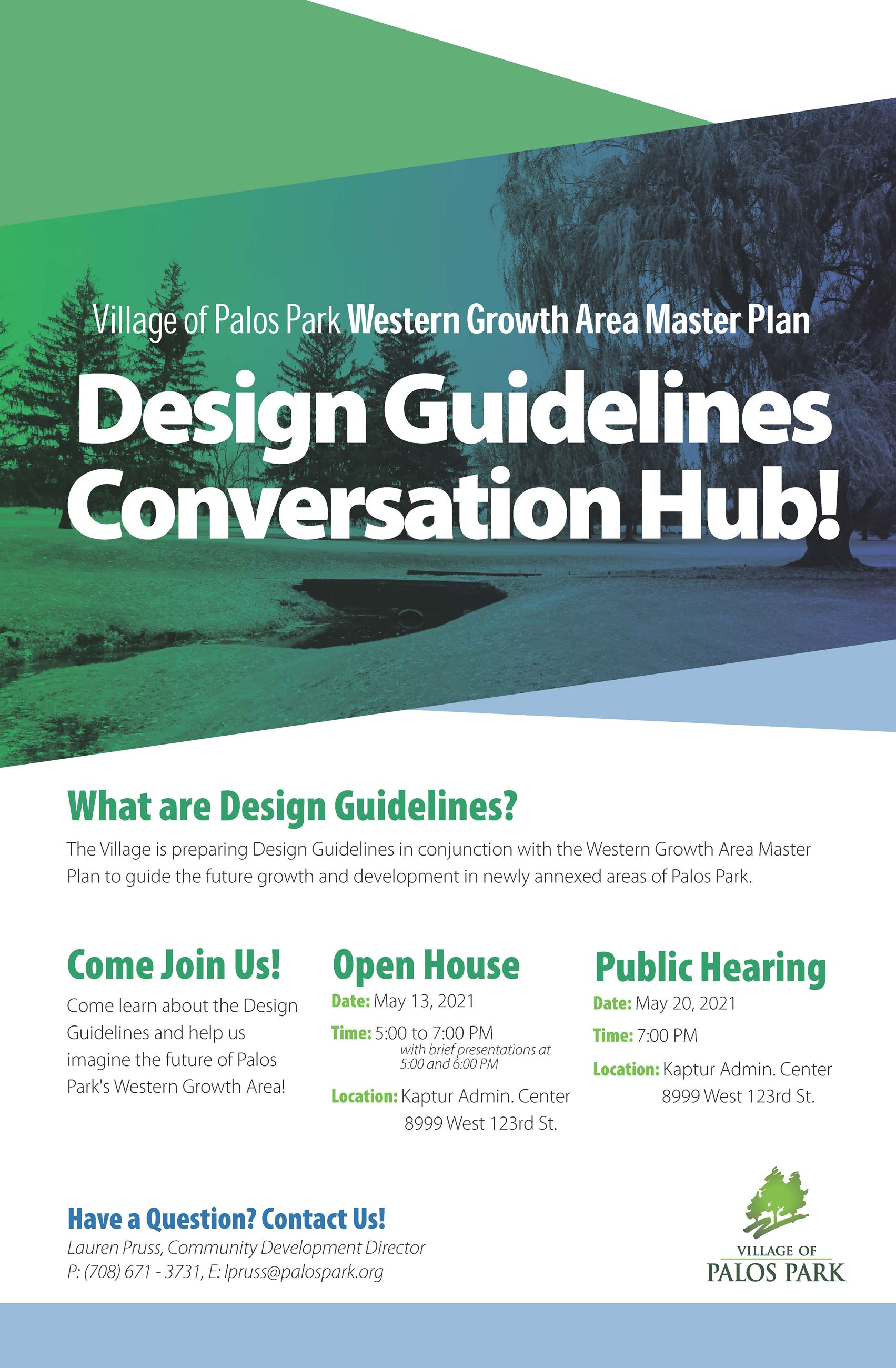 Western Growth Design Guidelines Open House