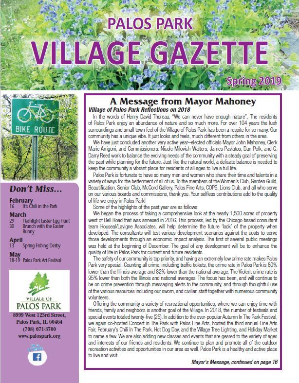 village gazette spring Opens in new window