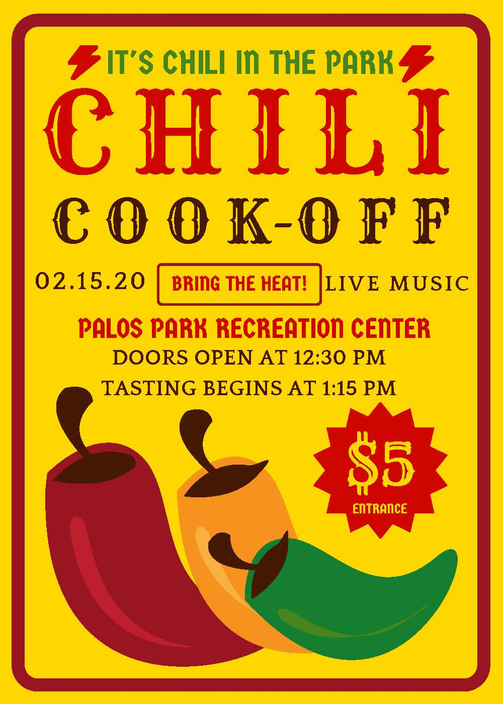 Chili Cook Off Event Flyer Opens in new window