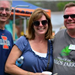 3 people pose for a picture at chili event